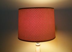 Vintage Brown Beige Clip On Pin Dot Lampshade by GladStoneatHome on Etsy