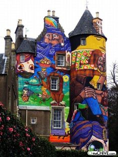 Image detail for -painted mural castle 3 Castles make great canvases (13 photos)