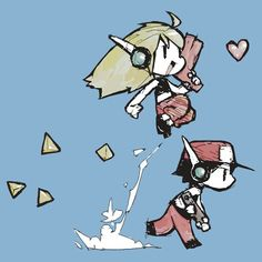 Cave story-Curly & Quote