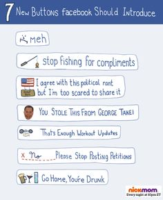 7 New Buttons Facebook Should Introduce