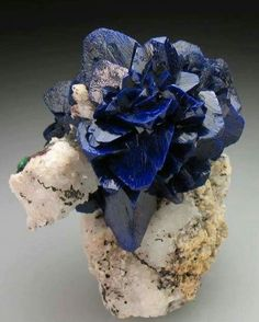 Azurite Rose | #Geology #GeologyPage #Mineral Photo Copyright crystal classics Geology Page www.geologypage.com