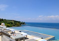 Corfu Luxury Villas, Luxury Villa rentals in Corfu , Villa Adriana, Ionian Islands, Greece Villas In Corfu, Hillside Garden, Garden Pool, Jacuzzi Outdoor, Corfu Greece, Luxury Villa Rentals, Beautiful Villas, Luxury Holidays, Private Pool