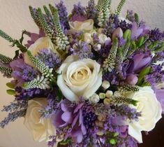 Levandulová svatební kytice