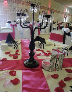 Black Candelabra Wedding Centerpiece