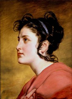 Portrait of a Young Girl.Friedrich von Amerling (April 14, 1803 – January 14, 1887)