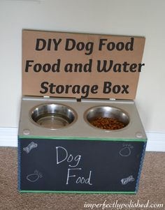Why a feeding station? Well, for starters it stops clumsy dogs from spilling their dish every 2 minutes. And many of these stations double as food storage, so it keeps . Read Amazing DIY Dog Feeding Stations and Storage Food Dog, Dog Food Recipes, Dog Food Storage, Water Storage, Christmas Gifts For Cousins, Dog Feeding Station, Diy Beauty Secrets, Dog Leash Holder, Diy Outdoor Weddings