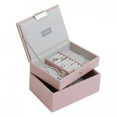 MINI 2set šperkovníc, soft pink, STACKERS, stohovatelná šperkovnica