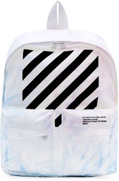 Off-White SSENSE Exclusive Blue & Purple Tie-Dye Backpack