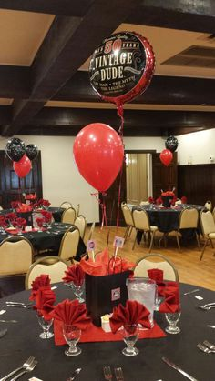 40th Birthday Party Balloon Decorations Centerpiece 40th
