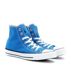 Converse Chuck Taylor All Star High-Tops (69 CAD) ❤ liked on Polyvore featuring shoes, sneakers, converse, sapatos, blue, converse high tops, star sneakers, converse shoes, converse footwear and high top shoes