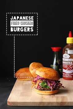Japanese Fried Chicken Burgers   The Sugar Hit