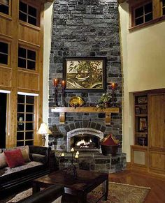 rock fire place