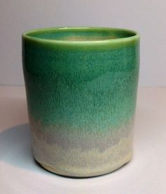 Copper on rutile glaze. Annie Jennings