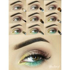 Tropical Island - #eyetutorial #eyes #eyemakeup #tropical #glamdiva - Bellashoot.com (iPhone, iPad & Web)