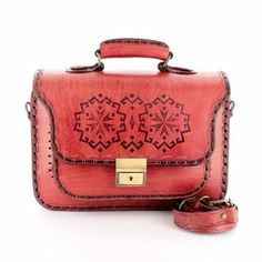 Handcrafted Leather Goods Motif Rog Dark Red Messenger Bags