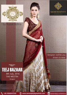 Serendipity Take 8 presents Rubal Vohra ,for designer clothes you dream to wear @ 'Teej Bazaar' on 8th July @ The Westin..