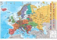 European Map Plakater - hos AllPosters.no. Velg mellom over 500 000 Posters & Plakater. Rimelig innramming, rask levering og garanti om 100 % kundetilfredshet.