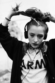 Hair – editorial, model, school, university, class, chic, hair, makeup, thin, fashion, style, girl, youth, black, white, grit, music, punk