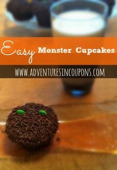 Halloween doesn't have to have complicated DIY's and Foods! Check out these simple and easy Monster Cupcakes with Chocolate Buttercream Frosting!