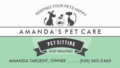 Cute Retro Mint Green and White Pet Sitting Dog Walker Business Cards http://www.zazzle.com/pet_sitting_care_green_white_retro_design_double_sided_standard_business_cards_pack_of_100-240508140144432902?rf=238835258815790439&tc=GBCPetCare1Pin
