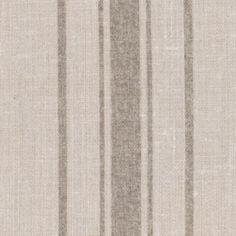 The Danish Stripe ~ Tea on Grainsack Linen - Peony & Sage Fabric Rug, Pillow Fabric, Grey Fabric, Linen Fabric, Pillows, Striped Furniture, Striped Walls, Victorian Cottage, Grain Sack