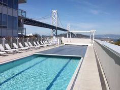 A retro-fit (deck mounted) installation at a condo community in San Francisco. The return on investment on commercial / semi-public pools is usually within a year or two as the reduction in operating costs is reduced upwards of 70%
