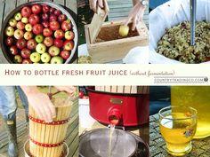 How to preserve fresh juice in bottles