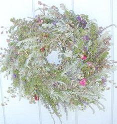 Instructions for making a dried flower wreath