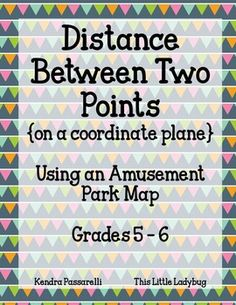 Fun math activity! Students use an amusement park map to find the distance between two points on a coordinate grid!