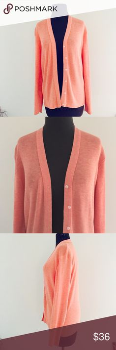 ❗️Nordstrom Coral Cardigan MSRP $68 ❗️Nordstrom Coral Cardigan Size medium in like new condition! Retails $68. Tags not attached.  Must go this week! Feel free to make an offer! I'm giving to the first reasonable offer I receive & give great bundle deals! Moving Clearout Sale--all must go! ;-) Nordstrom Sweaters Cardigans