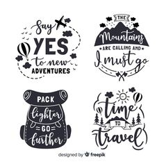 Discover thousands of copyright-free vectors. Graphic resources for personal and commercial use. Thousands of new files uploaded daily. Tableaux D'inspiration, New Adventure Quotes, Kids Planner, Travel Journal Scrapbook, Doodle Quotes, Zentangle, Clipart Black And White, Travel Design, Printable Stickers