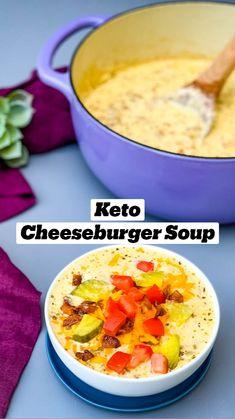 Ketogenic Recipes, Diet Recipes, Cooking Recipes, Healthy Recipes, Ham Recipes, No Carb Healthy Meals, Low Carb Crockpot Recipes, Keto Diet Meals, Low Carb Soups
