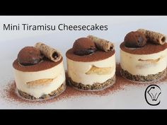 BEST Mini Tiramisu Cheesecakes Topped with Dark Chocolate Ganache Truffles Easy Make Ahead Dessert Tiramisu Cheesecake, Bolo Tiramisu, Cookies And Cream Cheesecake, Chocolate Raspberry Cheesecake, Tiramisu Dessert, Chocolate Ganache, Cheesecake Recipes, Make Ahead Desserts, Small Desserts