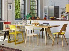 Cuisine avec chaise depareillees vitra