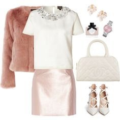 A fashion look from September 2015 by maddmae featuring Giambattista Valli, Warehouse, Morgan, Gianvito Rossi, Chanel, Michael Kors, Samantha Wills and Ciaté