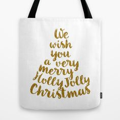 """Holly Jolly Christmas"" Tote Bag by Better HOME on Society6"