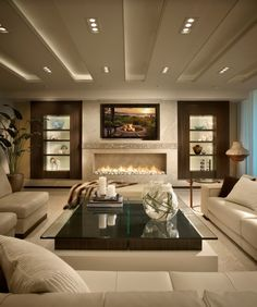 23 Stunning Modern Living Room Design Ideas Now This Is A Family Room   Or  Basement