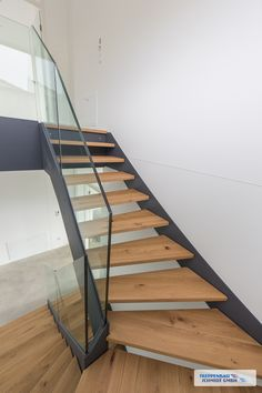HPL and steel stairs «Treppenbau Schmidt GmbH - stair. Steel Stairs, Floating Staircase, Modern Stairs, House Stairs, Tiny Living, Stairways, Interior Architecture, Sweet Home, New Homes