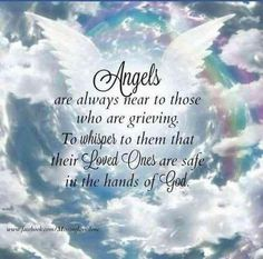 It can be hard to know what to do or say to someone who has suffered a loss and is grieving the death of a loved one. You can offer some words of encouragement with these uplifting quotes that you can use to help comfort someone who is grieving. Angel In Heaven Quotes, Angels In Heaven, Heavens Angel Quotes, Heaven Poems, Uplifting Quotes, Inspirational Quotes, Angel Protector, Missing You Quotes For Him, In Loving Memory Quotes