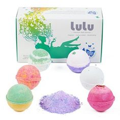 LULU Bath Bombs Gift Set with Mineral Bubble Bath Powder - 6 Large Tennis Ball Size Bath bomb gift sets are the perfect gift for her any time of year but especially Christmas 2017.  There are so many cool, yummy and unique scents that will have your bathroom smelling like a garden paradise.   Consider giving bath bomb gift sets to anyone who loves luxurious gifts and appreciates being pampered.  These are simply amazing, fabulous and simply phenomenal!
