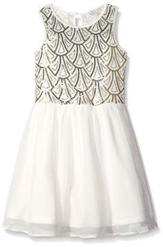 Sequin bodice flower girl dress.
