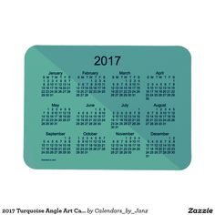 2017 Turquoise Angle Art Calendar by Janz Magnet