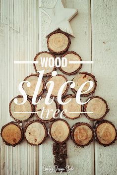 How to make a wood slice tree fast. Country Design Style #woodslicetree #woodsliceproject