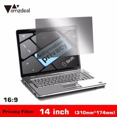 """AMZDEAL New 14"""" Inch PET Laptop Privacy Screens Protector Film Anti Privacy Filter Laptop Computer Monitor High Quality 