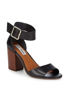 f8f8fb0ea Estoriaa Leather Block-Heels by Steve Madden at Gilt