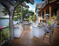 back deck with outdoor kitchen   Outdoor Kitchen Design Ideas   InteriorHolic.com