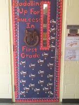 Western Theme Classroom - Door Display Robot Classroom, Classroom Door Displays, Hallway Displays, First Grade Classroom, Classroom Themes, Classroom Organization, Rodeo Decorations, Class Decoration, Beginning Of Kindergarten