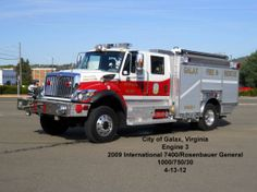 Galax Fire Department, Galax, VA - Engine 3 - 2009 International 7400…