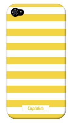 Phone cases Set of 4 Iphone Button Monograms iphone 4 personalized case yellow stripe iPhone case. Summer Iphone Cases, Cases Iphone 6, Iphone 4, Cover Iphone, Smartphone Iphone, Cellphone Case, Iphone 7 Plus, My Favorite Color, My Favorite Things