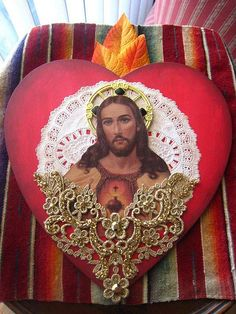 Sacred Heart of Jesus Assemblage by La Chusma, via Flickr